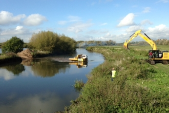 River Tame re-profiling at Kingsbury Water Park Tim Haselden