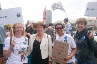 Crishni Waring and Su Hartland Smith meeting Dame Caroline Spelman former MP for Meriden