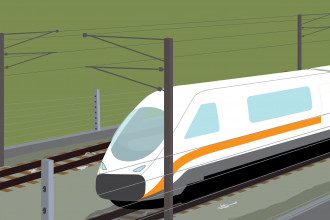 Train graphic HS2