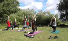 Outdoor yoga Call of the Wild Louise Barrack