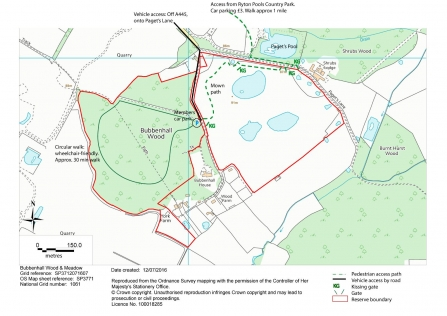 Bubbenhall Wood and Meadow map