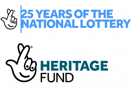National Lottery 25 yrs and Heritage Fund logos