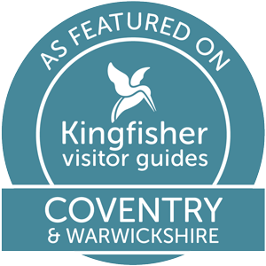 Kingfisher Guides Welcome to Coventry and Warwickshire logo