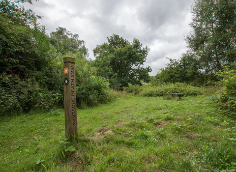 Whitacre Heath waymarker Steven Cheshire